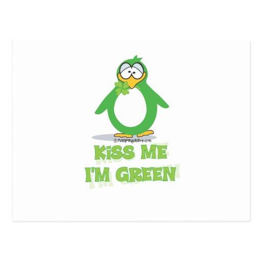 Béseme que soy verde postales
