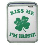 Béseme que soy vintage irlandés funda para iPads