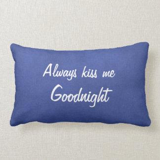 Béseme siempre buenas noches almohada de tiro cojín lumbar