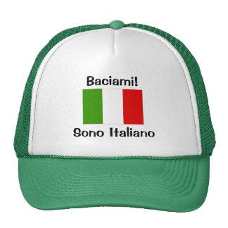 ¡Béseme! Soy italiano Gorras De Camionero