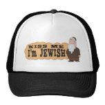 ¡Béseme! ¡Soy judío! - El humor judío más fino Gorros Bordados