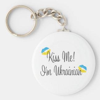 ¡Béseme! Soy ucraniano Llavero Personalizado