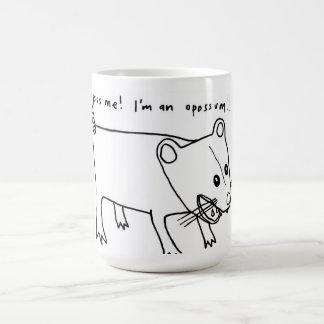¡béseme! ¡Soy un oposum!! Taza