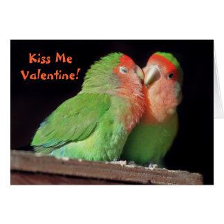 Béseme tarjeta - tarjeta del día de San Valentín