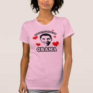 Béseme, yo están votando por Obama Playera