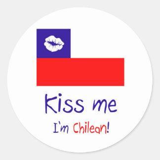 Béseme, yo son chileno etiqueta redonda