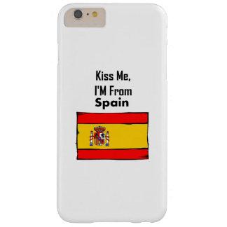 Béseme, yo son de España Funda Para iPhone 6 Plus Barely There