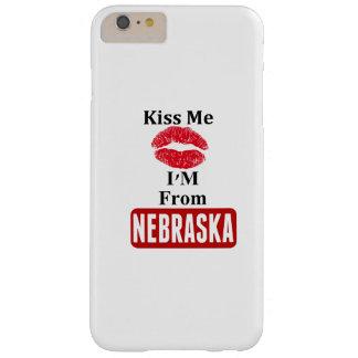 Béseme, yo son de Nebraska Funda De iPhone 6 Plus Barely There