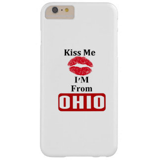 Béseme, yo son de Ohio Funda Para iPhone 6 Plus Barely There