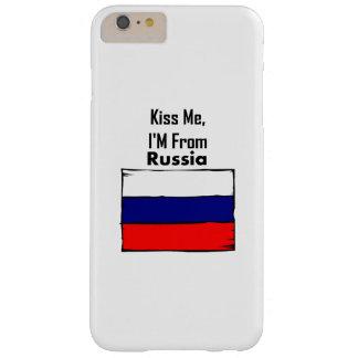 Béseme, yo son de Rusia Funda De iPhone 6 Plus Barely There