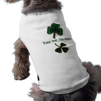 Béseme, yo son irlandés, camiseta de la impresión  ropa perro