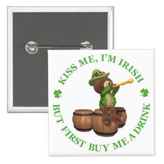 Béseme yo son irlandés - solamente primera compra pin