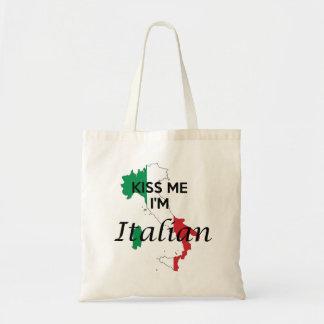Béseme, yo son italiano bolsa tela barata