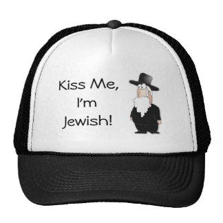 ¡Béseme, yo son judío! gorra divertido