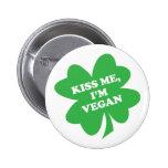 Béseme, yo son trébol del vegano pins