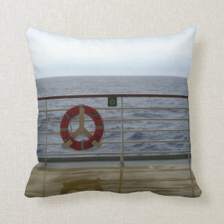 Beside the Railing Throw Pillow