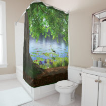 Beside the Still Water Shower Curtain