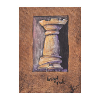 Besieged Rook Stretched Canvas Prints