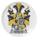 Beskow Family Crest Party Plates