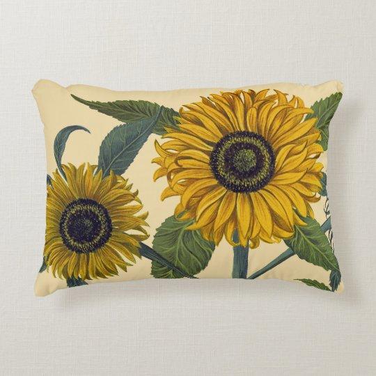 Besler Sunflower Decorative Pillow Zazzle Mesmerizing Sunflower Decorative Pillows