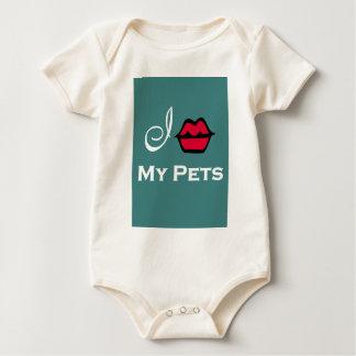 """""""Beso a mis mascotas para el rescate animal """" Body Para Bebé"""