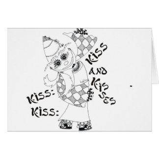 Beso, beso, beso y besos tarjeta de felicitación