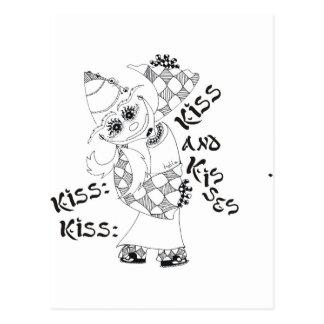 Beso, beso, beso y besos tarjeta postal