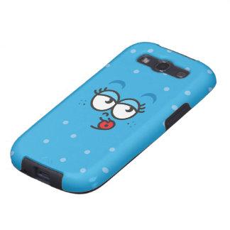 Beso - caja azul del teléfono de la galaxia S3 de  Galaxy S3 Funda
