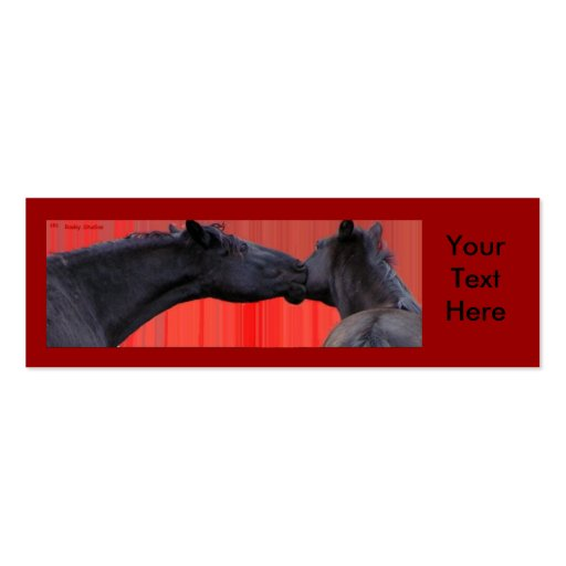 Beso Customizeables del caballo Tarjetas De Visita