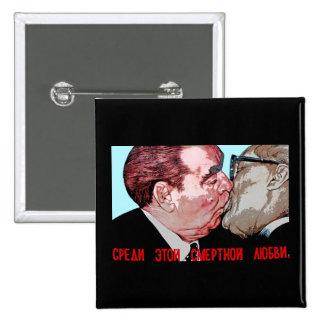 Beso de Brezhnev y de Honeker, galería de la zona  Pin