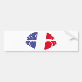 beso de Francia Pegatina Para Auto