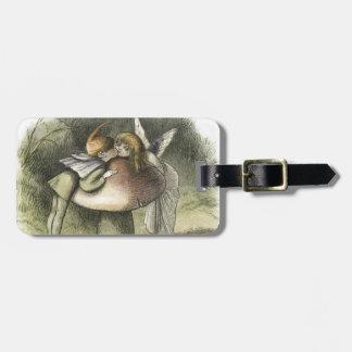 Beso de hadas en el Fairyland 1870 Etiquetas Para Equipaje