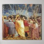 Beso de Judas por Giotto Poster