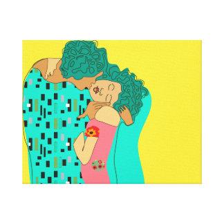 Beso de Klimt Impresión En Lienzo