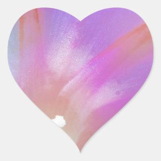 Beso de la correhuela pegatina en forma de corazón