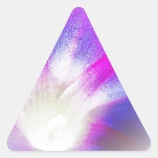 Beso de la correhuela pegatina triangular