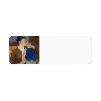 Beso de la madre s de Maria Cassatt- buenas noches Etiqueta De Remite