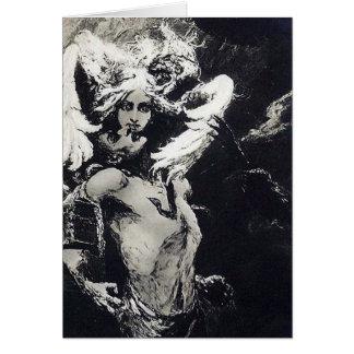 Beso de la medusa - Wilhelm Kotarbinski Tarjeta De Felicitación