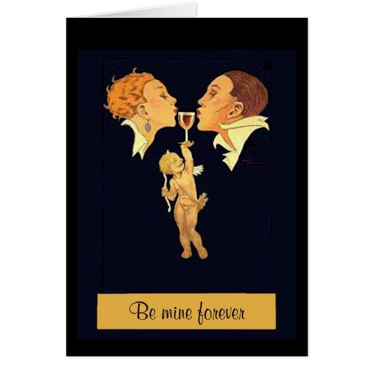 beso de la tarjeta del día de San Valentín de los