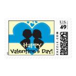 Beso de la tarjeta del día de San Valentín Envio
