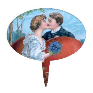 ¡Beso de la tarjeta del día de San Valentín! - Pri Figura Para Tarta