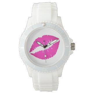 Beso de las rosas fuertes relojes de pulsera