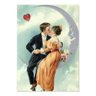 Beso de los pares del Victorian del vintage en una Comunicados Personales