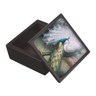 Beso de los pavos reales del vintage cajas de regalo de calidad