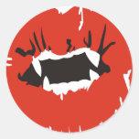 Beso de los vampiros pegatinas
