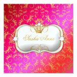 Beso de oro de la torta de la cereza de 311 Ciao Invitación Personalizada