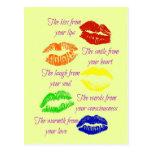 Beso de sus labios postal