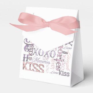 Beso del amor de la risa caja para regalos