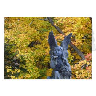 Beso del ángel - amistad tarjeta pequeña