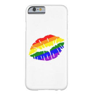Beso del arco iris funda de iPhone 6 barely there